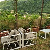 stock photo of apennines  - Italian countryside between Firenze and Bologna  - JPG