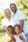 pic of grandparent child  - African American Grandparents With Grandchildren Walking In Park - JPG