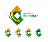 picture of universal sign  - Set of abstract geometric company logo square - JPG