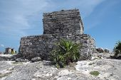 Temple At Ruins In Tulum, Mexico