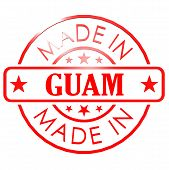 pic of guam  - Made in Guam red seal image with hi - JPG