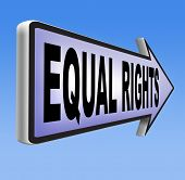 image of disability  - equal rights no discrimination and same opportunities for all women man disabled black and white solidarity discrimination of people with disability or physical and mental handicap