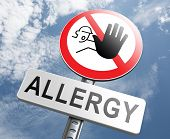 stock photo of immune  - Allergy stop allergies and allergic reactions hypersensitivity disorder of the immune system  asthma attack hay fever - JPG