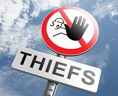 image of theft  - catch thiefs stop theft no robbery or pick pocket thief arrest by police investigation or neighborhood watch prevention - JPG