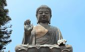 stock photo of lantau island  - The Big Buddha - JPG