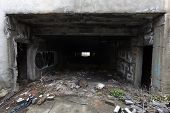 picture of underpass  - Abandoned underpass under a main street in a Sofia - JPG