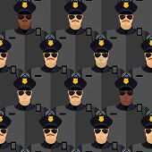 picture of police  - Police officers seamless pattern - JPG