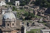 foto of plinth  - Ancient Ruins of Imperial Forum in Rome via dei Fori Imperiali - JPG