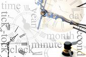 stock photo of tick tock  - old clocks new clocks time and clockfaces - JPG