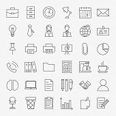 Постер, плакат: Business Office Life Line Art Design Icons Big Set