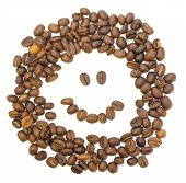 foto of fanny  - whole fanny coffee beans on white background - JPG
