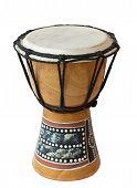 Un tambor africano.