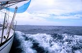 Sailing In Atlantic Ocean