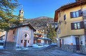Church On Small Street In Limone Piemonte.