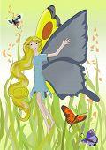 Girl-butterfly