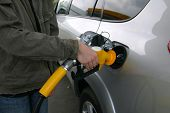 pic of bowser  - filling up with gas or petrol at the bowser - JPG