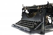 Vintage Typewriter On White
