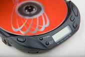 Portable Cd Player With Red Disk