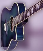 picture of acoustic guitar  - acoustic guitar - JPG