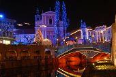 Nightscene In Ljubljana - Slovenia.
