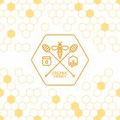 ������, ������: Outline Bee And Honey Dipper Symbol
