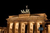 Brandenburg Gate By Night In Berlin