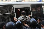 Arests on russian anti-government action in Moscow, 31.07