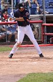 Binghamton Mets batter Joshua Satin stands at the plate