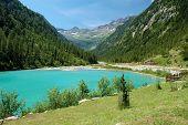 summer Alpine mountain lake landscape