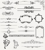 image of art nouveau  - vector set design elements and page decoration - JPG