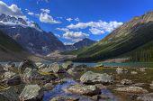 Hdr Beautiful Mountain Lake