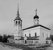 Resurrection Church On The Market Square In Suzdal. poster