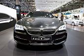 Moscow, Russia - August 25: Grey Car Bmw Gran Coupe At Moscow International Exhibition Interauto On