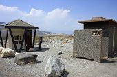 picture of ares  - Rest ares and payment station at a national park entrance - JPG