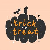 Greeting Card Design With Hand Drawn Vector Illustrations And Lettering For Halloween October Party  poster