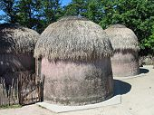 foto of mud-hut  - Village in Africa  - JPG