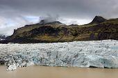 Svinafellsjokull Glacier landscape in Skaftafell Natural Park, Iceland, Europe poster