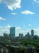 picture of prudential center  - Looking out over Beacon Hill towards the Back Bay skyline - JPG