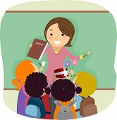 Illustration of Kids Celebrating Teachers' Day