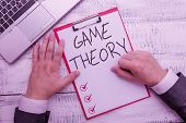 Handwriting Text Writing Game Theory. Concept Meaning Branch Of Mathematics Concerned With Analysis  poster