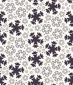 Seamless Pattern. Hand Drawn Abstract Winter Snowflakes. Stylish Crystal Stars On Ecru Background. E poster