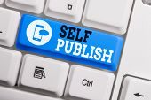 Conceptual Hand Writing Showing Self Publish. Business Photo Text Published Work Independently And A poster