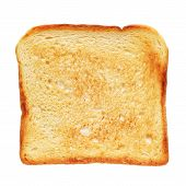 Toasted Bread Isolated On White Background With Clipping Path. Top View poster