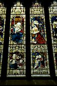 Stained Glass Window of Mother & Child at Bath Abbey