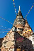 Head Buddha And Pagoda