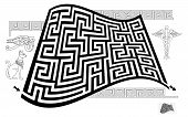Logical Puzzle Game With Labyrinth For Children And Adults. Find Way From Start To End. Printable Wo poster