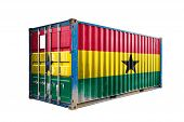 The Concept Of  Ghana Export-import, Container Transporting And National Delivery Of Goods. The Tran poster