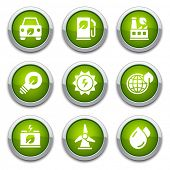 Botones de Ecología verde