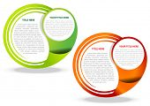 Two vector abstract background for text