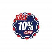 10% Sale Tag Vector Badge Template, 50% Sale Label Collection, Clearance Sale Sticker Emblem, Bargai poster
